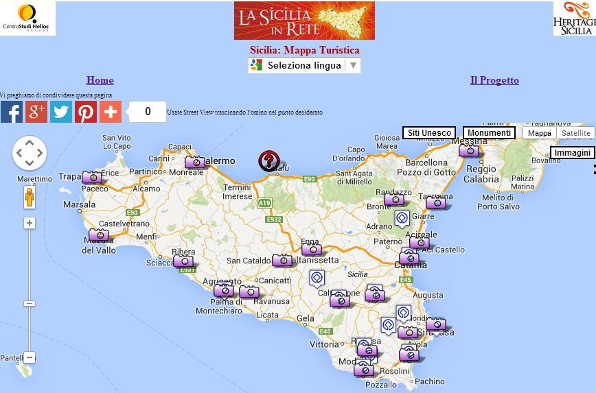 Cartina Sicilia Turistica.Sicilia Heritage Sicilia